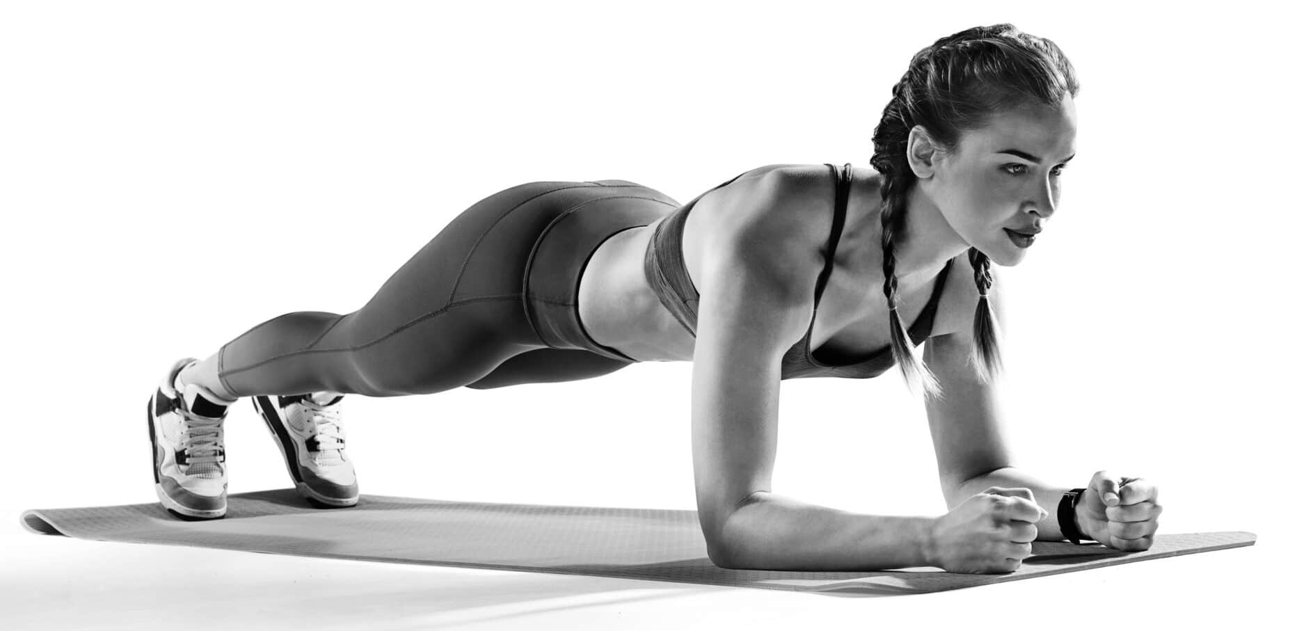 woman in a plank